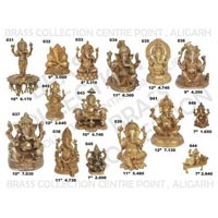 Brass Ganesh Statues 03