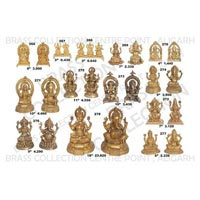 Brass Laxmi Ganesh Statue 01