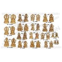 Brass Laxmi Ganesh Statue 02