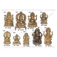 Brass Sitting Ganesh Statue 01