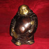 Laughing Buddha Brass Statue