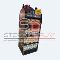Food Double Side Floor Display Stand