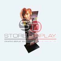 Lipstick Square Shaped Point Of Sales Display Stand