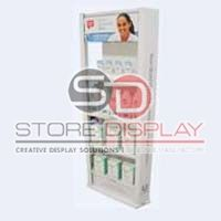 Shampoo 4 Shelves Floor Display Stand