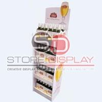 Wine Floor Cardboard Display Stand