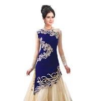 Velvet Embroidered Dress 02