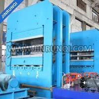 Frame Structure Rubber Casters Platen Vulcanizing Press