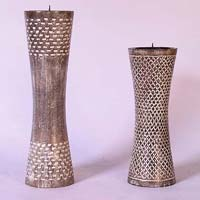 Carved Wooden Candle Holders 02