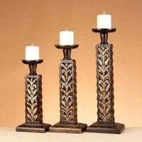 Designer Wooden Candle Holder 02