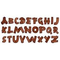 Wooden Alphabet Letters 02