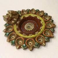 Decorative Rangoli Diya 01