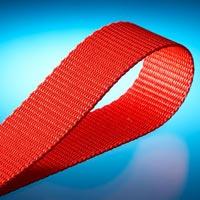 Red Herringbone Webbing Tape