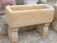 Sandstone Benches and Fireplace 12