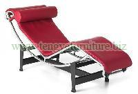 Modern Red LC4 Lounge Chair