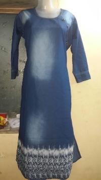 Ladies Denim Kurtis=>Ladies Denim Kurti 03