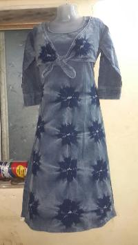 Ladies Denim Kurtis=>Ladies Denim Kurti 04