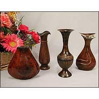 Patina Finish Flower Vase
