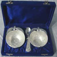 Silver Plated Apple Bowl Set