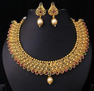 Designer Matte Finish Necklace Set 03