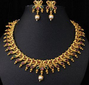 Designer Matte Finish Necklace Set 06