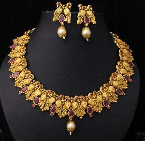 Designer Matte Finish Necklace Set 07