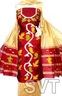 Unstitched Handloom Resham Jamdani Suits