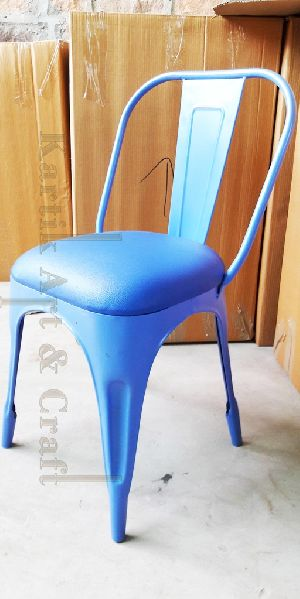 Metal Tolix Chair with Cushion Seat