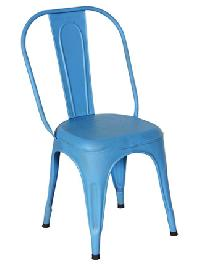 Sky Blue Color Metal Chair
