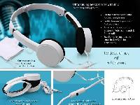Ultra Folding Headphones with Mic