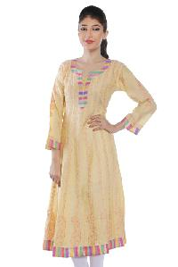 Ladies Lucknowi Anarkali Kurtis=>Ladies Lucknowi Anarkali Kurti (00049)