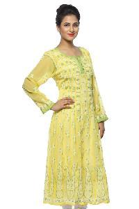 Ladies Lucknowi Anarkali Kurtis=>Ladies Lucknowi Anarkali Kurti (0008)