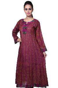 Ladies Lucknowi Anarkali Kurtis=>Ladies Lucknowi Anarkali Kurti (10230)