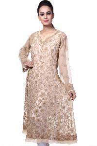 Ladies Lucknowi Anarkali Kurtis=>Ladies Lucknowi Anarkali Kurti (10566)