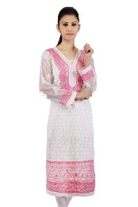 Ladies Lucknowi Long Kurtis=>Ladies Lucknowi Long Kurti (125)