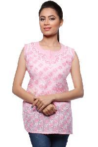 Ladies Lucknowi Short Kurtis=>Ladies Lucknowi Short Kurti (0022)