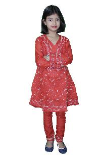 Girls Lucknowi Anarkali Suits=>Girls Lucknowi Anarkali Suit (019)