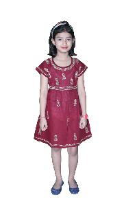 Girls Frocks=>Girls Cotton Frock  (25)