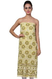 Lucknowi Kurti Fabric=>Lucknowi Kurti Fabric (10565)