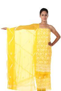 Lucknowi Suit Fabric=>Lucknowi Suit Fabric (10177)