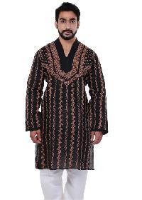 Mens Lucknowi Long Kurta=>Mens Lucknowi Long Kurta (20020)
