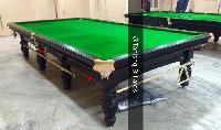 Tournament Billiards Table In Steel Block Cushions