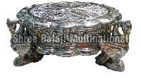 Silver Coated Chowki 03