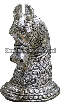 Silver Coated Wooden Horse 02