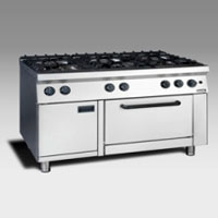 Gas Open Burner with Oven NGR 12 - 90 4F GR