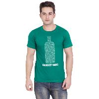 Mens Green T-Shirt Design Round Neck