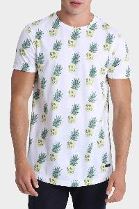 Mens Printed T-shirt Pineapple Skull