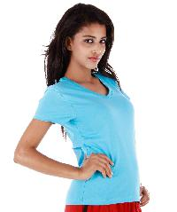 V Neck T-shirt Blue