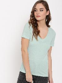 V Neck T-shirt Sky Blue