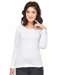 Women Round Neck WhiteT-shirt