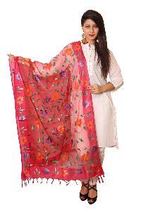 Floral Silk Dupatta 03